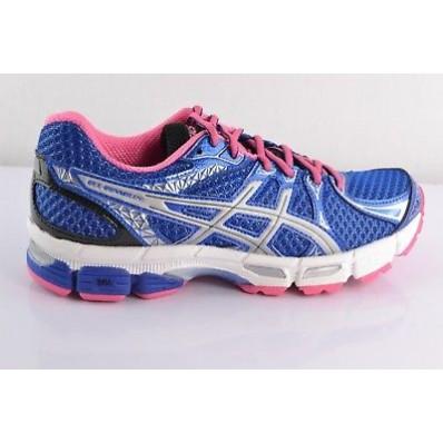 chaussure running femme runmiles bleu rose asics