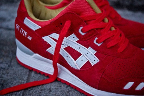 asics blanche rouge cheap online