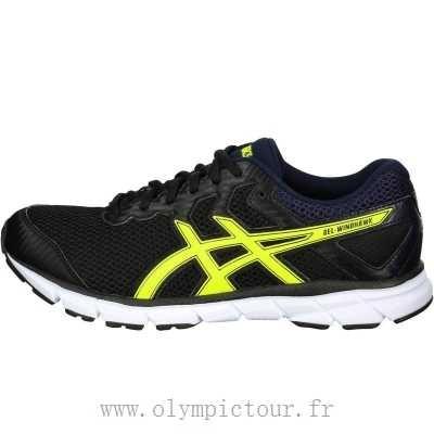 Gel Rouge Chaussures Asics Homme Noir Windhawk Jogging WEDH2I9